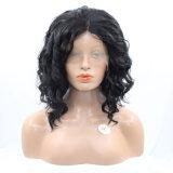 Черный Dlme ослабление волнистые средней части синтетические волосы