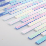 De gekleurde Tegels van het Mozaïek van de Stukken van het Gebrandschilderd glas voor Backsplash