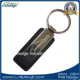 Cuero Keychains del metal del color de la insignia de la impresión