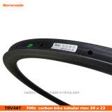 ¡el OEM 7-Tiger valida! Milímetros tubular del camino de la forma de V 38 chinos de la bici 700c los 23 de carbón ancho de la bicicleta bordean al por mayor