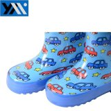 2018 солнечный автомобиль в полном объеме печати детей из натурального каучука Rainboots синий Wellingtons новый дизайн Wellies обувь для детей обувь