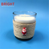 White Paraffin Personalized Single Gravel bank Candle with Christmas Decoration