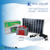 Heißer Verkauf 20W steuern Beleuchtung-Energie-Sonnensystem automatisch an