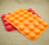 24 moulages de savon de silicones de forme ronde de trous mini