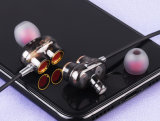 마이크를 가진 4개의 스피커 이동 전화 이어폰 입체 음향 이어폰