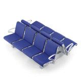 La gare d'attente, double rangée de sièges avec boîte en métal jambes