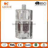 El manual plástico de acrílico funciona el molino de pimienta de la sal