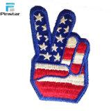 Correção de programa Shaped da bandeira dos EUA da mão feita sob encomenda por atacado