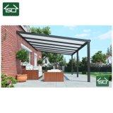 Châssis en aluminium robuste en polycarbonate creux balcon toit étanche