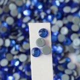 Branelli di vetro Hotfix del Rhinestone blu degli ss 20 Capri