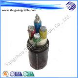18кв XLPE изоляцией ПВХ пламенно тонкая стальная проволока бронированные кабель питания
