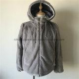 Hoodieのカスタマイズされた女性ののどの毛皮のコート