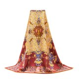 Silk Square Scarf習慣によって印刷される絹のスカーフの女性