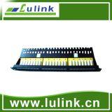 Patch panel de 24 puertos de gestión de cable con módulo 6A UTP