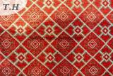 シュニールのジャカード編むファブリックの正方形パターンの3つのカラー