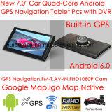 """ODM 7.0"""" погрузчик морской навигации GPS с помощью тире передатчик FM, AV-в камеру заднего вида, ручной система навигации GPS, Bluetooth для мобильного телефона,Tmc Tracker,ТВ"""