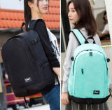 Grande capacidade da mochila Estudante Saco de ombro com duas vezes Laptop iPad Pocket Mochila Zh-Bbk010
