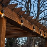 Indicatore luminoso staccabile esterno della stringa di E27 LED con 15m 15 lampadine