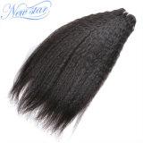 熱い販売の最もよい品質インドのねじれたまっすぐに100%の人間の毛髪の束