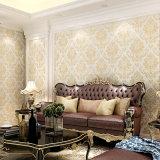 PVC Wallcovering, papier de mur de PVC, tissu de mur de PVC de modèle moderne, papier peint de PVC