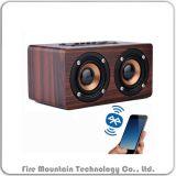 Крепко деревянный диктор радиотелеграфа Bluetooth нот джаза случая W5 2017
