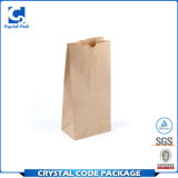 Crear la bolsa de papel para requisitos particulares impresa insignia de Brown Kraft