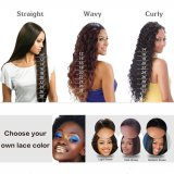 Dlme 흑인 여성을%s 최상 100% 브라질인 바디 파 사람의 모발 가득 차있는 레이스 가발