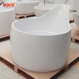 Matt White Pierre artificielle Salle de bains moderne autoportante Baignoire
