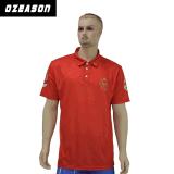 Concevoir la chemise de polo rouge sublimée de club de vêtements de sport