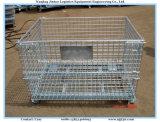 Entrepôt Boîte de palette en acier à empilage empilable / Boîte de rangement