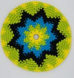 Crochet tejida a mano, en el interior de Frisbee Flying Disc, ganchillo Frisbee Flying