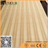 La chapa natural de la teca hizo frente a la madera contrachapada de lujo para los muebles