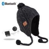 2019 Patch en cuir de la musique populaire tricot Beanie Hat le casque Bluetooth