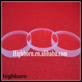 Feuille personnalisée transparente en verre de quartz avec des tranchants