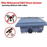 Mini brouilleur imperméable à l'eau de bourdon d'UAV d'antenne interne