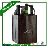 Grande frasco relativo à promoção escuro sacos tecidos do vinho do Polypropylene