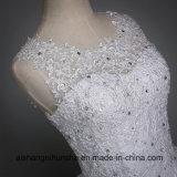 Сексуальная задняя конструкция шнурует вверх платье шарика подгонянное мантией Bridal
