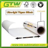 70gsm, Papel para transferência de calor por sublimação de tinta para impressão a jato de tinta