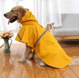 L'animal familier vêtx la couche de pluie de crabot