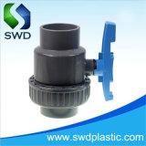 Singola valvola a sfera del sindacato del PVC 63mm con la maniglia blu