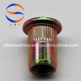 Noix ronde moletée principale plate ISO13918 de rivet du corps M10