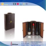 Flaschen-Wein-verpackengeschenk-Kasten des Brown-Leder-2 (6643)