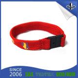 Wristband impreso pantalla de seda de encargo del poliester