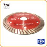 Corte en fábrica de porcelana China de disco duro de la hoja de sierra de diamante Turbo