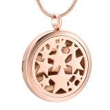 Ожерелье отражетеля эфирного масла золота Rose рая звезды нержавеющей стали