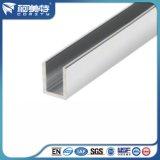 De Aluminio anodizado natural U Perfil para la fabricación de ducha