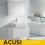 Современное здание белого цвета с деревянной мебелью лака в ванной комнате (ACS1-L71)