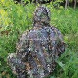 Vestito di Ghillie del camuffamento di caccia di stile dei fogli della foresta 3D