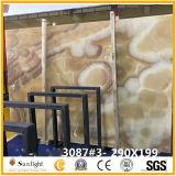 Mel Amarelo Natural Onyx laje de mármore de parede