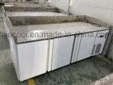 Banco Comercial de acero inoxidable Contador de nevera, congelador con compresor Embraco